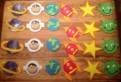 Space theme cupcake toppers!