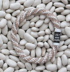 Pearl, Rose Gold, and Taupe Gray - Lily and Laura Bracelets