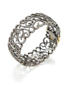 Pave Diamond Filigree Bangle Bracelet by Blake Scott on Gilt.com
