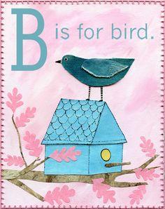 B is for bird - quilt block ~ love it!
