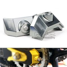 (Buy here: http://appdeal.ru/3cdp ) CA-KA002-TI New Arrival Motorcycle CNC Rear Fork Spindle Chain Adjuster Blocks Gray for Kawasaki Z800 2013 2014 2015 for just US $39.99