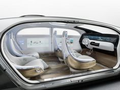 Mercedes-Benz F 015 self-driving Luxury in Motion concept car :: Interior view Mercedes Auto, Mercedes Sport, Minivan, Mercedes Concept, Hydrogen Car, Car Interior Design, Interior Concept, Automotive Design, Futuristic Cars