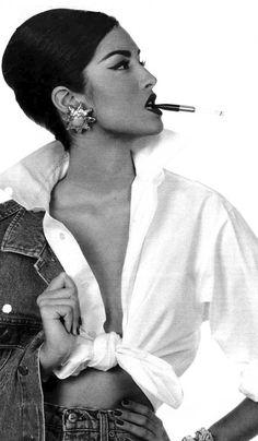 Yasmen Ghauri for Valentino photography by Steven Meisel