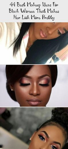 44 Best Makeup Ideas For Black Women That Makes Her Look More Pretty Basic Makeup, Lots Of Makeup, Dark Skin Beauty, Dark Skin Tone, Fantasy Makeup, Pretty Nails, Best Makeup Products, Black Women, Makeup Looks