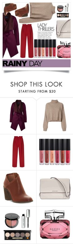 """A rainy day in fall"" by culinaryjumi ❤ liked on Polyvore featuring Lands' End, Rejina Pyo, RED Valentino, Lucky Brand, Michael Kors, Bobbi Brown Cosmetics and Gucci"