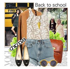 """""""492 : Chicnova back to school outfit. ♡ Part 2."""" by alienbabs ❤ liked on Polyvore featuring L. Erickson, Levi's, Illesteva, Charlotte Olympia and chicnova"""
