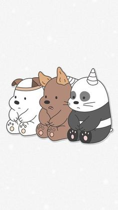 We Bare Bears Wallpaper So cuteeee! Cute Disney Wallpaper, Kawaii Wallpaper, Cute Wallpaper Backgrounds, Wallpaper Iphone Cute, Travel Wallpaper, Pastel Wallpaper, We Bare Bears Wallpapers, Panda Wallpapers, Cute Cartoon Wallpapers