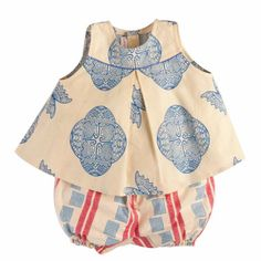 Perfect Summer Suit!  // Little Lelia Butterfly top and checkers bloomers