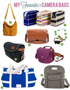 camera bags compiled by whoorl.  Love 1, 3 and 8, hate lugging the big camera in that uncool camera backpack!!