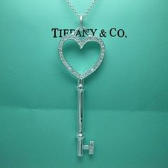 Tiffany  Co Necklace. Heart Key