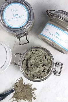 Learn how to make this clay face mask, made with natural sea clay and tea tree essential oil. It is great for normal to oily skin types, and is easy to make.