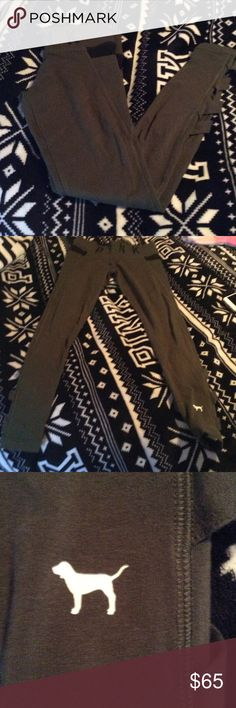 """🌺NWOT Victoria's Secret Campus Leggings🌺 New without tags size XS dark olive green leggings from Victoria's Secret. Purchased and never worn. These do match with the long sleeve campus long sleeve posted. These are UFT or purchase. They have the """"bow"""" looking cut outs on the back of the leggings. Super cute and such a gorgeous color! Trade value will be retail as long as they are in retail condition, must have trade feedback that's positive. Please ask any questions prior to purchase or…"""