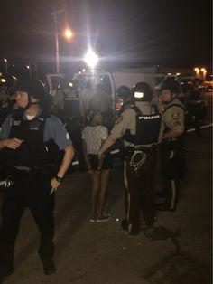 Stlcpd arrest 12 yo girl in #Ferguson