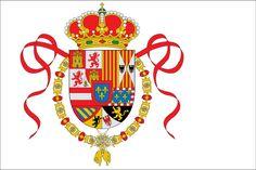 Pabellón navalde gala entre 1701 y 1760.