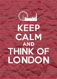 Keep Calm and Think of London - Stripes - - Digital Printable Poster… London Eye, London City, London Pubs, London 2016, England Uk, London England, London Quotes, British Things, London Calling