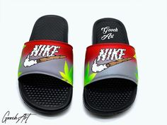 Slides For Men, Cute Slides, Nike Cortez Shoes, Branded Shoes For Men, Nike Slippers, Shoes Names, Gift Baskets For Men, Hype Shoes, Red High