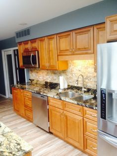 recently completed #Charleston Toffee Cabinets #Remodeling #Kitchen Project Photos for your Kitchen #design and #ideas hope you will love it #homedecor