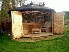 Outside enclosed patio: Ideas, Man Cave, Bar Shed, Outdoor, Barshed,