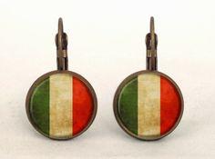 Italian Flag Earrings, 0232ERB from EgginEgg by DaWanda.com