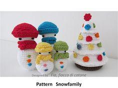 Snowfamily-( Snowman, Christmas tree ) pattern on Craftsy.com