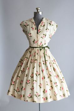 Vintage 1950s silk floral dress by TuesdayRoseVintage