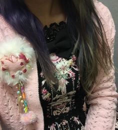 Wish I had a full body shot. Cute mashup of pastels with my casual lolita. JSK: BTSSB Everything else thrifted