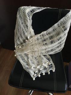 Echarpe de lino a telar