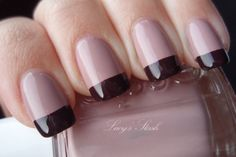 Lucy's Stash: My favourite fall manicure with Essie Lady Like and Carry On from Essie Fall 2011