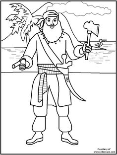 free printable pirate coloring pages great for kids teachers and parents - Brazil Flag Coloring Page