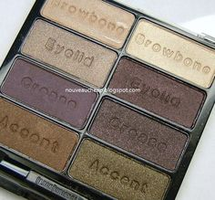 Black Radiance Eye Appeal 8-pan Eyeshadow Palette in Downtown Browns - couple colors swatched very lightly