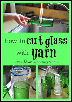 Rumor has it you can cut glass with yarn. Does it work? The Pinterest Busters decided to find out.