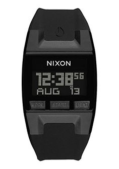 Nixon Mens Comp S Plastic and Silicone Automatic Watch ColorBlack Model A33600000 *** To view further for this item, visit the image link.