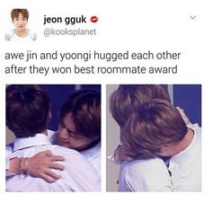 Yoongi and Jin Best roommates