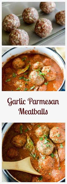 Delicious Garlic Parmesan Meatballs.