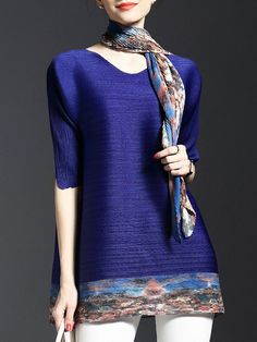 Buy it now. Blue Pleated Elastic Print T-shirt Dress. Blue Round Neck Half Sleeve Shift Short Plain Fabric is very stretchy Summer Casual Day Dresses. , vestidoinformal, casual, camiseta, playeros, informales, túnica, estilocamiseta, camisola, vestidodealgodón, vestidosdealgodón, verano, informal, playa, playero, capa, capas, vestidobabydoll, camisole, túnica, shift, pleat, pleated, drape, t-shape, daisy, foldedshoulder, summer, loosefit, tunictop, swing, day, offtheshoulder, smock, print...