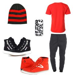 """Cool Guy's Outfit"" by gracedudich ❤ liked on Polyvore featuring J Brand, Superga and Tretorn"