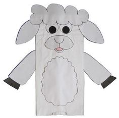 Paper Bag Lamb Craft - year of the sheep Nursery Rhymes Preschool, Preschool Crafts, Diy Crafts For Kids, Preschool Bible, Preschool Ideas, Toddler Crafts, Paper Bag Crafts, Paper Bags, Paper Crafting