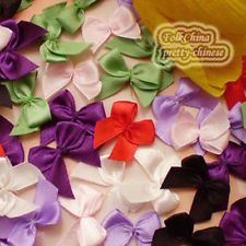 Mixed Satin 20mm Bows Satin Ribbons 10mm Appliques Scrapbooking Cardmaking Craft