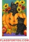 Kittens and Jack Garden Flag