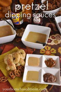 Pretzel Dipping Sauces @yourhomebasedmom.com  #pretzels,#recipes