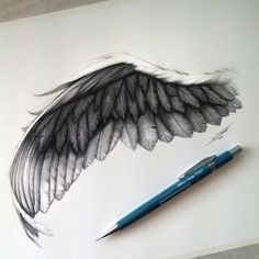 Black angel wing Tattoos And Body Art angel wings tattoo Black Angel Wings, Black Angels, Bird Wings, Wing Tattoo Designs, Tattoo Design Drawings, Art Drawings, Drawings Of Angels, Drawings Of Birds, Sketch Tattoo