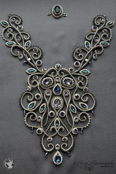 The Impossible Is Often the Untried -Bead embroidered neckpiece by Alla Maslennikova. Колье Baroque из коллекции Joaillerie Royal и Battle of the Beadsmith Bead Embroidery Jewelry, Soutache Jewelry, Bead Jewellery, Gemstone Jewelry, Beaded Jewelry, Jewelery, Handmade Jewelry, Beaded Necklace, Bead Embroidery Tutorial