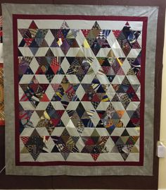 neck tie quilt made by  Cotton Treasures