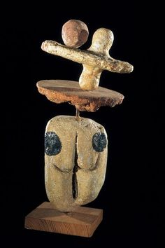 "Miro Personnage (Figure)    1956  Stoneware  42 x 17 x 20 cm / 16 1⁄2 x 6 7⁄10 x 7 9⁄10"""