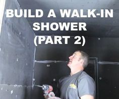 How to Build a Walk-In Shower (Part Wedi Wall Installation) Tap the link now to see where the world's leading interior designers purchase their beautifully crafted, hand picked kitchen, bath and bar and prep faucets to outfit their unique designs. Bathroom Shower Panels, Diy Shower, Walk In Shower, Bathroom Showers, Shower Tub, Shower Ideas, Shower Remodel, Bath Remodel, Shower Units