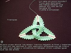 Tutorial 9 | by Guadalupe-Trampas Jewelry Patterns, Beading Patterns, Bead Jewellery, Beaded Jewelry, Labor, Celtic Knot, Bead Weaving, Jewelry Making Tutorials, Beads