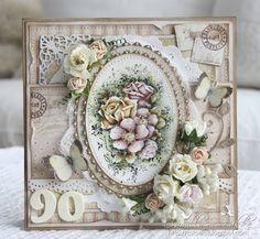 Cards by Camilla: Bursdagskort ~ 90 år! From: http://cstoen.blogspot.no/2012/08/bursdagskort-90-ar.html