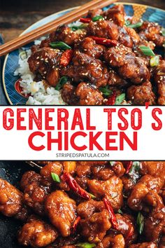Learn how easy it is to make the #1 most popular Chinese-American takeout dish at home! This General Tsos Chicken recipe, with crispy fried chicken thighs and a sweet-spicy sauce, can be on the table in under an hour. #chinesefood #generaltsochicken #chickenrecipes