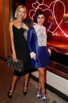 Elena Perminova and Miroslava Duma at the New SC Bag Launch Celebration cocktail for Le Bon Marche and Louis Vuitton as part of the Paris Fa. Miroslava Duma, Mira Duma, Fashion Editor, Fashion Brands, Style Russe, Sofia Coppola, Russian Fashion, Fall Winter Outfits, Classy Outfits