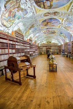 Library at Strahov Monastery, Prague, Czech Republic...( by Redstone Hill ).